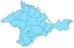 Feodosijas beliggenhed på Krim.