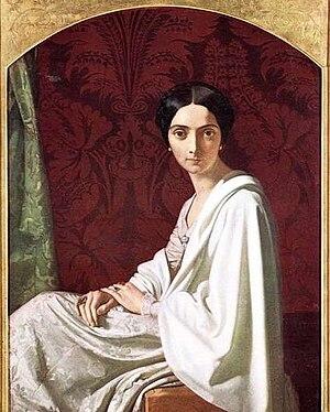 Cristina Trivulzio Belgiojoso - Cristina Trivulzio Belgiojoso in 1843 by the artist Henri Lehmann