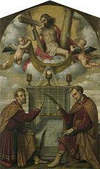 Christ with Saints Cosmas and Damian