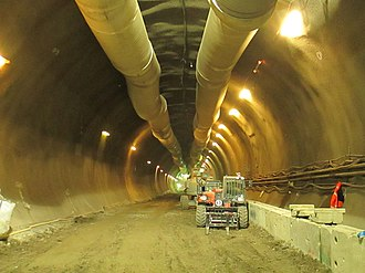 Crossrail - A Crossrail tunnel during construction