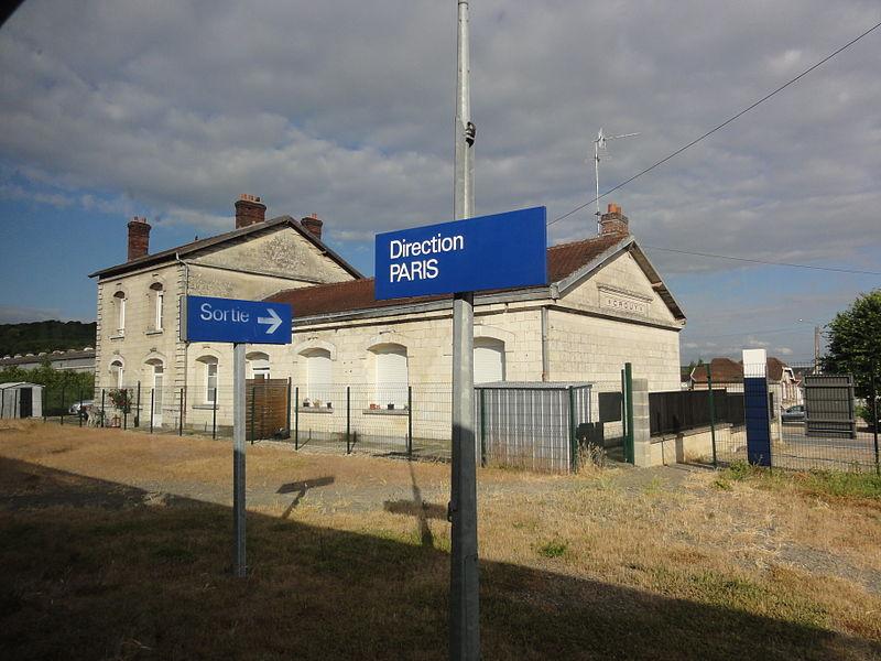 Crouy (Aisne) la gare