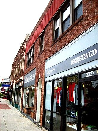 Clintonville, Columbus, Ohio - Commercial strip