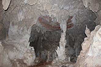 Candelaria Caves - Stalagmites, stalactites and columns inside the caves