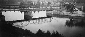 Cummings Bridge - Previous Cummings Bridge Ottawa 1896