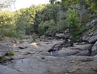 Cunningham Falls State Park - View from the top of Cunningham Falls