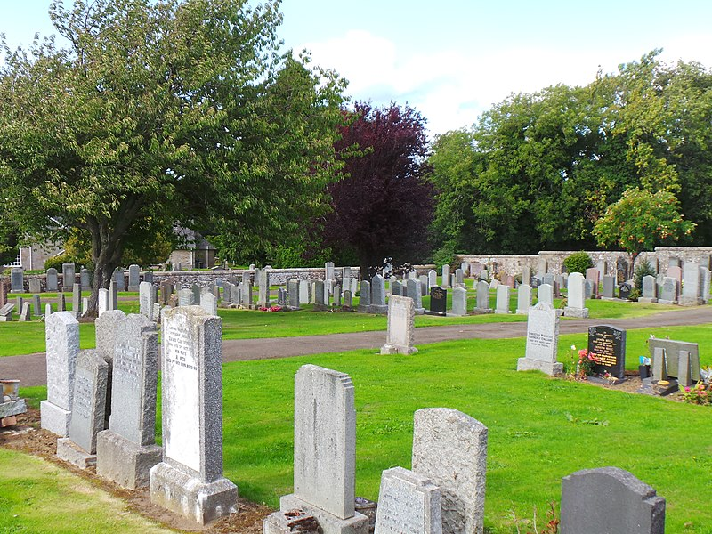 800px Currie Kirk Burial Ground