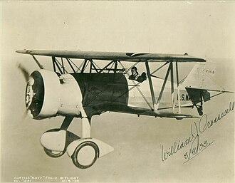 Curtiss F11C Goshawk - XF11C-2 Goshawk, piloted by Curtiss test pilot William J. Crosswell, pictured during a test flight, 4 November 1932.