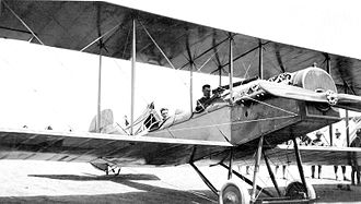 3rd Fighter Training Squadron - Curtiss R-2 assembly at Kelly Field, Texas, 1917