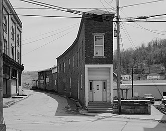 National Register of Historic Places listings in Marshall County, West Virginia - Image: Curved Building in Cameron