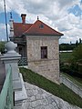 Customs house of Maria Valeria Bridge in Esztergom, Hungary.jpg