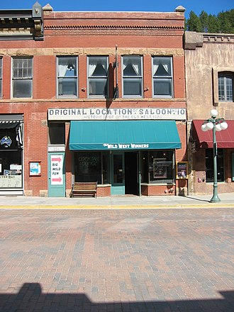 Deadwood, South Dakota - Possible location of the original Nuttal & Mann's saloon where Wild Bill Hickok was killed, 624 Main Street, Deadwood