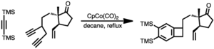 Alkyne trimerisation - Image: Cyclotri synth 1