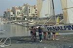 Dériveurs 18 pieds australiens au Salon Nautique International à Flot de La Rochelle 1987 (16).jpg