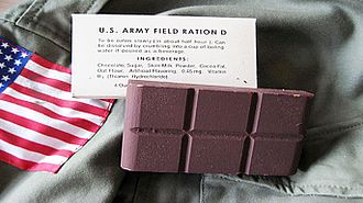United States military chocolate - D ration bar