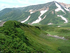 Daisetsuzan National Park - A summer view from Mount Asahidake, Daisetsuzan National Park.