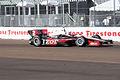 Dallara-Chevrolet DW12 Penske-IZOD Racing Ryan Briscoe Morning Practice Front Stretch SPGP 24March2012 (14696524181).jpg