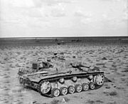 Damaged Panzer IIIs near Belhamed2 1941