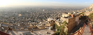 Panoramic view over Damascus from Jabal-Arba`in