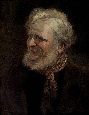 "Peggotty - Daniel Peggotty ""A hale grey-haired old man."" (ch. LXIII) Art by Frank Reynolds (1910)"