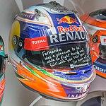 Daniel Ricciardo 2014 helmet 2017 Museo Fernando Alonso.jpg