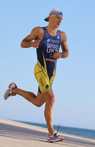Danylo Sapunov - Sapunov at the European Cup triathlon in Quarteira, 2011.