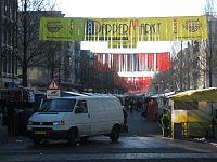 Dappermarkt in Amsterdam.