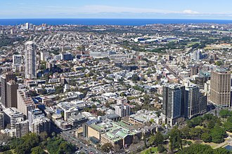 Darlinghurst, New South Wales - Aerial view of Darlinghurst
