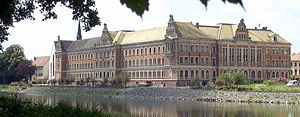 Gymnasium St. Augustine - Gymnasium St. Augustine seen from Mulde river