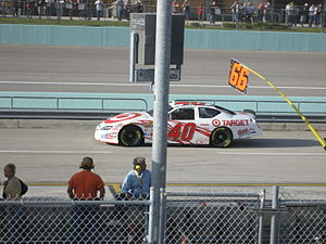 David Stremme - David Stremme practicing for the 2007 Ford 400 at the Homestead-Miami Speedway.