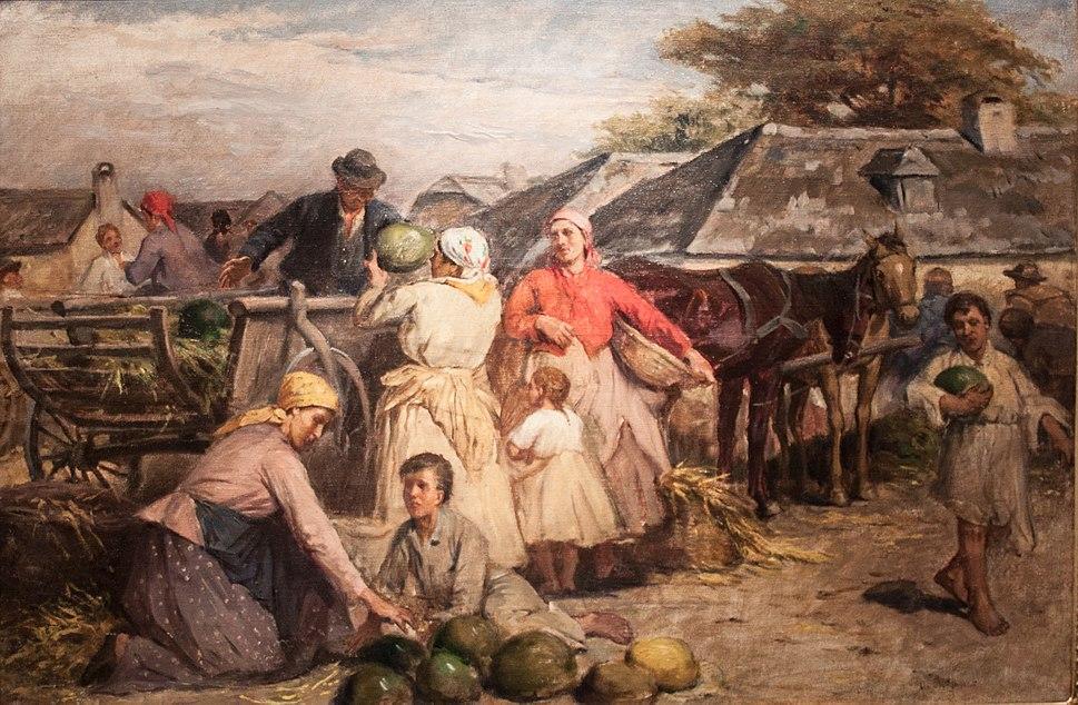 De%C3%A1k %C3%89bner, Lajos - Market of Melons