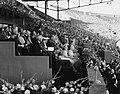 De koninklijke familie op de ere-tribune in het Olympisch Stadion in Amsterdam, , Bestanddeelnr 900-0042.jpg