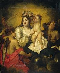 The apotheosis of the Virgin