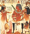 Deceased and His Mother Receive Wine, Tomb of Nebamun and Ipuky MET eg30.4.106.jpg