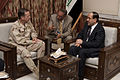 Defense.gov News Photo 110421-N-TT977-194 - Chairman of the Joint Chiefs of Staff Adm. Mike Mullen meets with Iraqi Prime Minister Nouri al-Maliki in Baghdad Iraq on April 21 2011. Mullen.jpg