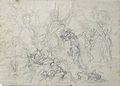 Dehodencq A. - Pencil - VERSO, Etude de personnages (peut-être une étude pour un épisode de la vie de Christophe Colomb) - 15.5x21.5cm.jpg