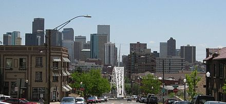 Downtown Denver in 2007, looking southeast from the Highland neighborhood Denver from Highlands.jpg