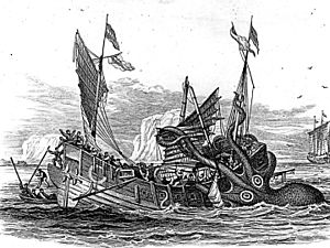 Kraken - Kraken attacking merchant ship,1810