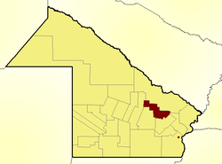 Location of Sargento Cabral Department in Chaco Province