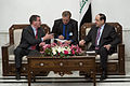 Deputy Secretary of Defense Ashton B. Carter, left, meets with Iraqi Prime Minister Nuri al-Maliki, right, during a visit to Baghdad, Iraq, 121018-D-TT977-102.jpg