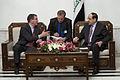 Deputy Secretary of Defense Ashton B. Carter, left, meets with Iraqi Prime Minister Nuri al-Maliki, right, during a visit to Baghdad, Iraq, 121018-D-TT977-102.jpg