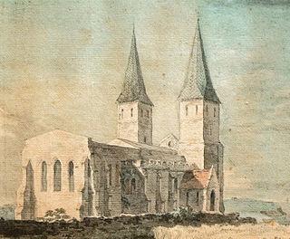 St Marys Church, Reculver Church in Reculver, England
