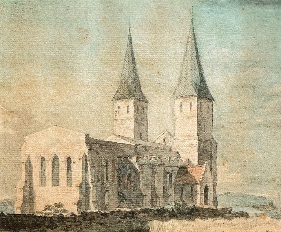 Detail of Reculver Church Sullivan 1755