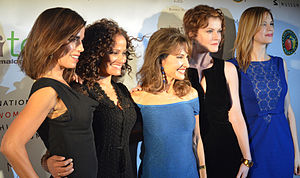 Devious Maids - Ana Ortiz, Judy Reyes, Susan Lucci, Rebecca Wisocky, and Mariana Klaveno at event in October 2013