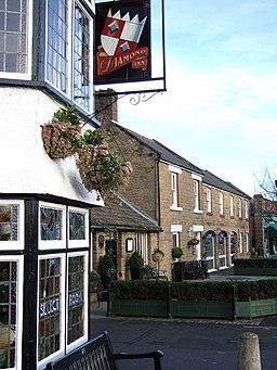 Diamond Inn and houses in Ponteland - geograph.org.uk - 308036