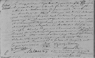 Didier Diderot - Death deed of  Didier Diderot, acte de décès