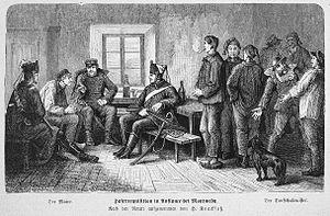 Auflance - A Haferrequisition at Auflance in 1871 from Die Gartenlaube (The Gazebo)