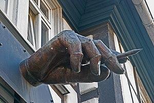 """Georg K. Glaser - """"The thinking Hand"""" by George K. Glaser at Höchst"""