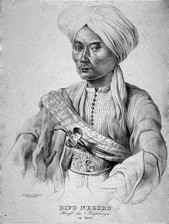 Diponegoro - Portrait of Prince Diponegoro, 1835