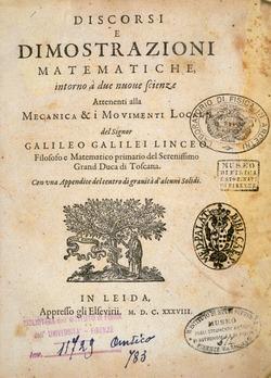 Discorsi e dimostrazioni matematiche intorno à due nuoue scienze di Galileo Galilei (Leida, 1638).tif