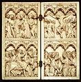 Dittico con storie della passione di cristo, parigi, 1360-70 ca.jpg